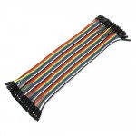 1 Pin Dual-Female Splittable Jumper Wire - 200mm (40Pcs Pack)