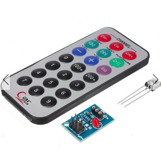 HX1838 VS1838 Infrared IR Receiver Module + Remote Control
