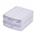 Modular electronic components storage box 705(11,5X10,5X6)cm
