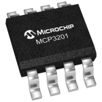 MICROCHIP  MCP3201-CI/P  Analogue to Digital Converter, 12 bit, 100 kSPS, Single, 2.7 V, 5.5 V, DIP