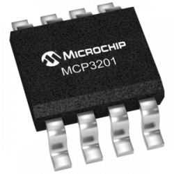 MICROCHIP  MCP3201-CI/P  Analogue to Digital Converter, 12 bit, 100 kSPS, Single, 2.7 V, 5.5 V, DIP