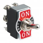 DPDT Switch Lever Metal 12V - 6 Pin