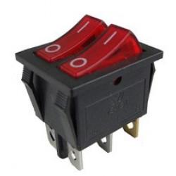 6 Pins double interrupteur à bascule du bateau de commutation