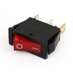 AC 15A/250V 3 Pin SPDT Red LED Indicator Mini Rocker Switch KCD3
