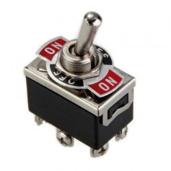 DPDT Switch Lever Metal 12V - 3 Pin