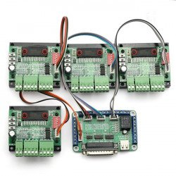 4 Axis TB6560 CNC Stepper Motor Driver + Controller Board Kit, 3A