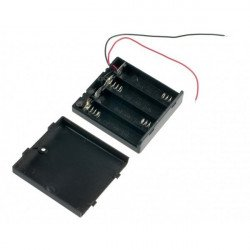Battery Holder - 4xAA Square with cover