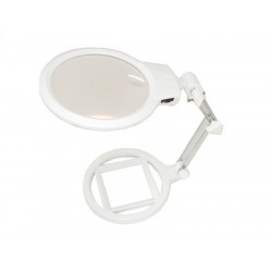 MG3B-1A High Quality Foldable Magnifier with 2 LED Illumination Lamps