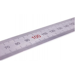 Metal precision ruler