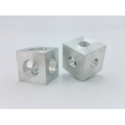 Silver Cube Corner Connector (Made in Algeria)