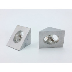 Silver VSlot 90° Corner Connector (Made in Algeria)