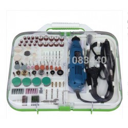 163pcs  Tools Kit Accessory with Mini Grinder 135W