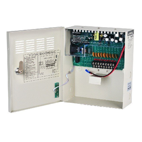 DC 12V Power Supply With Battery Backup 18CH-20A