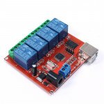 12V USB Relay 4 Channel Programmable Computer Control