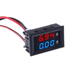 100V 10A Voltmeter Ammeter Blue + Red LED Amp