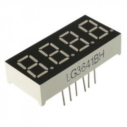 7 Segment 4 Digit Common cathode 0.36 Inch RED