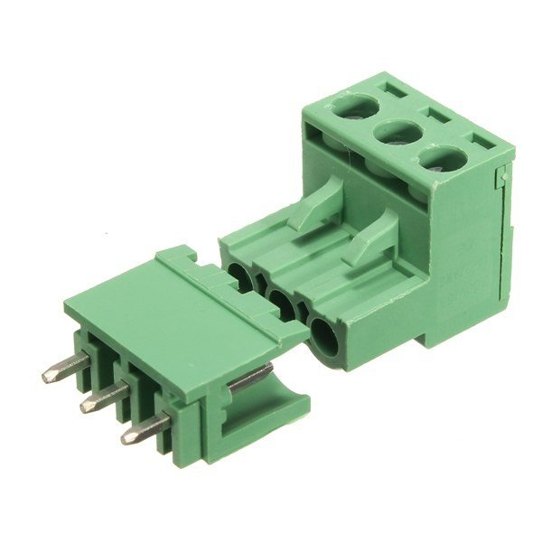 5.08mm Right Angle Screw Terminal block - 3 pin