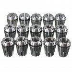 15 Pcs ER16 1-10mm Spring Collet Set Chuck Collet for CNC