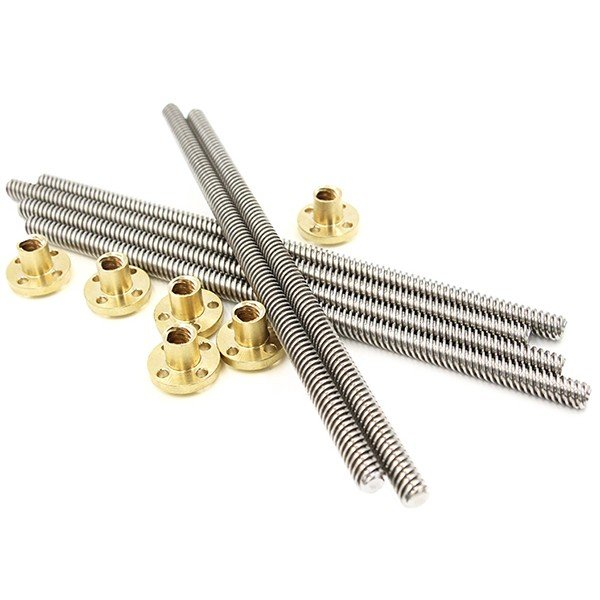T8x500mm trapezoidal Lead Screw with Brass Nut
