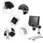 Digital  Microscope 1-600X 3.6MP 4.3inch HD LCD Display