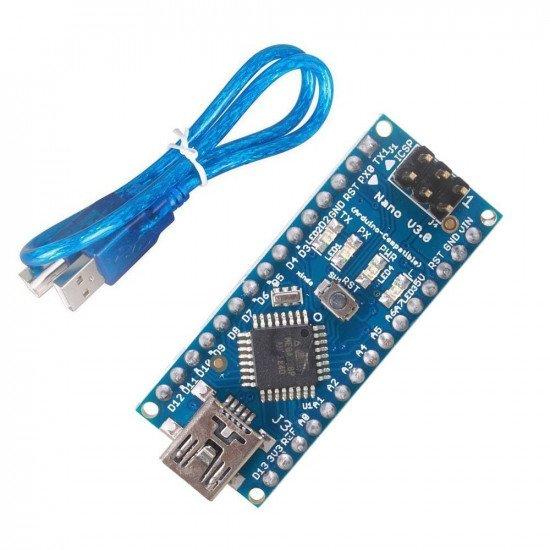 Arduino Nano V3.0  with Mini USB Cable (Compatible)
