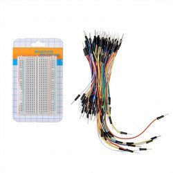 400 point breadboard+65pc jumper wire