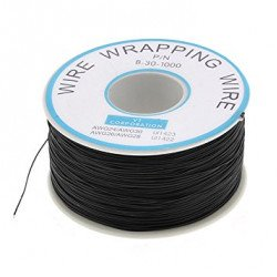 Black 250m 30AWG Silicone Wire