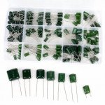 150Pcs 100V Polyester  Capacitor 15 Value 0.33nF-470nF Assorstment Kit