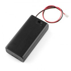 2xAAA battery holder with cover and switch