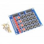 8LED Push Buttons Matrix Keypad 4X4