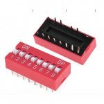 2.54mm 8Positions 16Pin Red DIP Switch