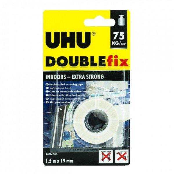 UHU-Double Sided  Mounting Tape 1.5m x 19mm