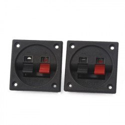 56mm x 56mm 2 Positions Push  Audio Speaker Terminals