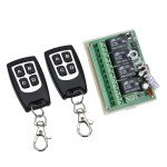 12V 4CH Channel 315Mhz/433Mhz Wireless Remote Control Switch With 2 Transimitter