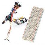 Breadboard 830P + 65 jumper wire - MB-102 + power supply