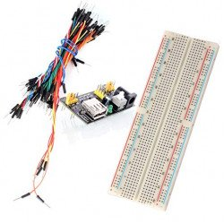 Breadboard 830P + 65 jumper wire - MB-102 + power supply