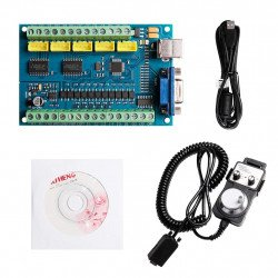5-Axis Mach3 USB Controller Card STB5100 with MPG Handwheel