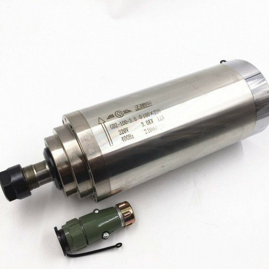 KIT - Spindle Motor  220V / 3KW Water-Cooled, GDZ100-3, ER20