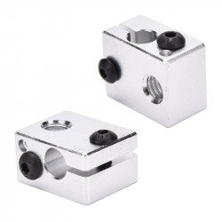 Aluminum Heat Block For 3D Printer V6 J-head Makerbot MK7 / MK8 Extruder
