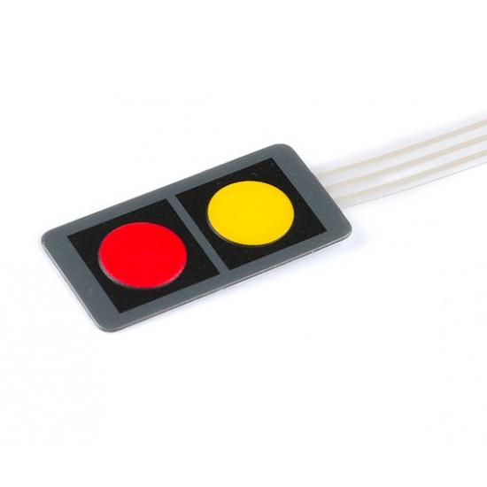keyboard Control Panel Yellow+Red
