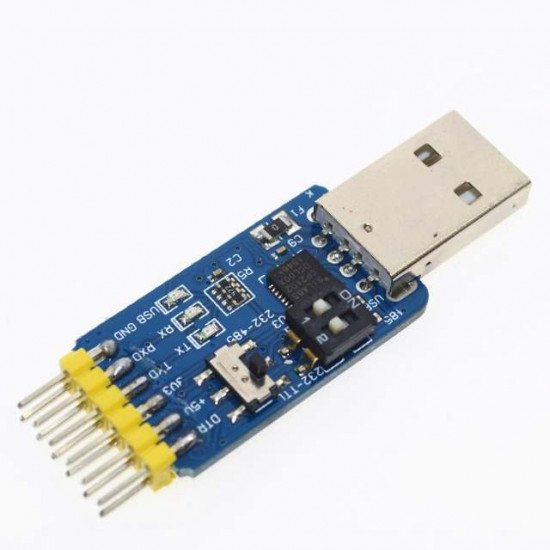 6 in 1 CP2102 USB to TTL 485 232 compatible Six multifunction serial module