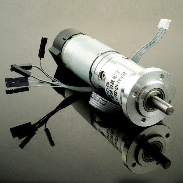 12V silent DC Motor 146RPM w/Encoder
