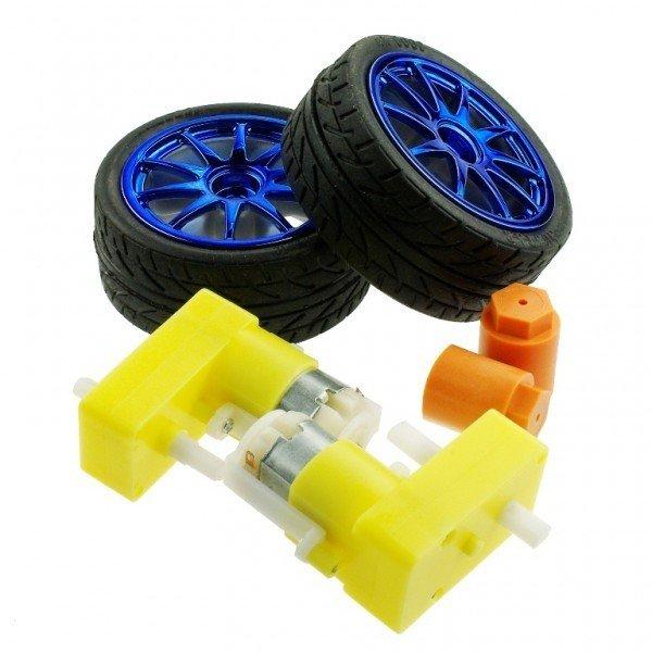 D65 wheel + Motor set - Blue