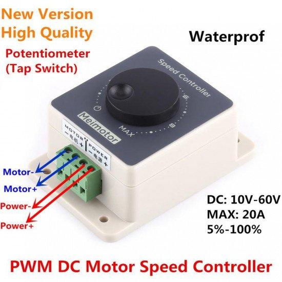 DC Motor Speed Controller Regulator DC 10-60V 20A