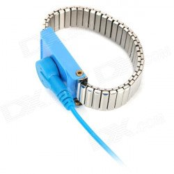 LEKO 028 Anti Static ESD Wrist Strap Discharge Band Bracelet - Blue