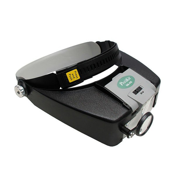 MA-016 head band magnifier with lamp