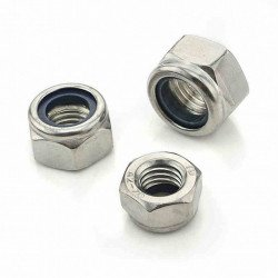 Nylon Insert Hex Locknut M5