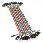 "Male-Female Jumper Wires - 40 x 200mm (7.87"")"