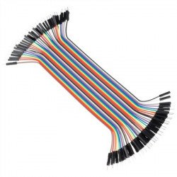 Male-Male Jumper Wires - 40 x 200mm (7.8in)