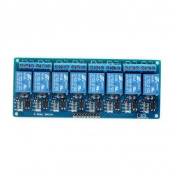8 Channel 5VDC Relay Module With Optocoupler